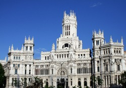 The palace in plaza cibeles, madrid