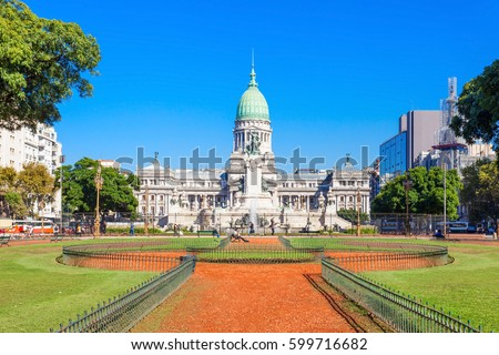 The Palace of the Argentine National Congress (Palacio del Congreso) is a seat of the Argentine National Congress in Buenos Aires, Argentina Foto stock ©