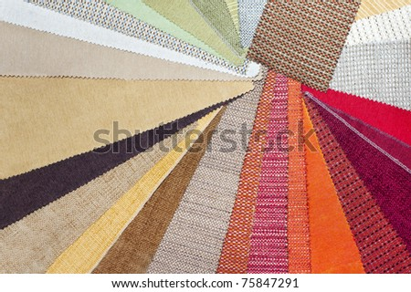 The palette of the furniture upholstery fabric