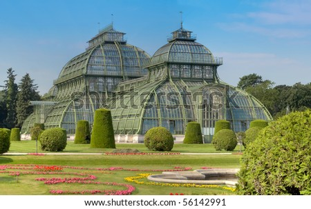"The ""Palmenhaus"" at palace Schoenbrunn Vienna Austria"