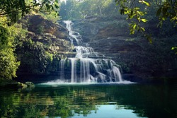 The Pandav Falls is a waterfall in the Panna district in the Indian state of Madhya Pradesh.
