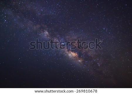 The Panorama Milky Way galaxy, Long exposure photograph