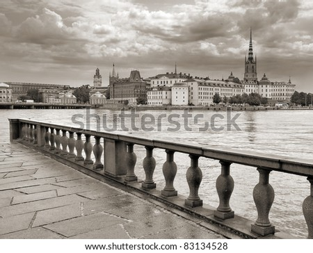The panorama of Stockholm, Sweden.
