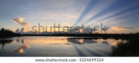 The panorama sunset  #1024699324