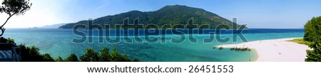 The panoramic view of Kho Adang island in Andaman sea. Thailand - stock photo