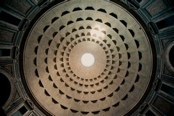 The Pantheon Ceiling, Rome, Italy