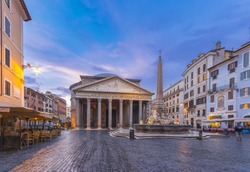 The Pantheon in the morning, Rome