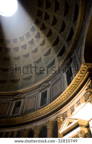 The Pantheon interior, Rome, Italy
