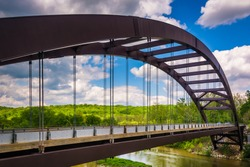 The Paper Mill Road Bridge over Loch Raven Reservoir in Baltimore, Maryland.