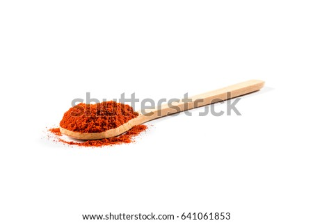 Shutterstock The paprika in the wooden spoon