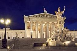The Parlament of Vienna, Austria