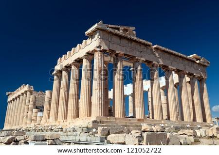 The Parthenon in the Akropolis, Athens.