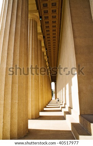 The Parthenon, Nashville, Tennessee, real size, built as the ancient Greek structure