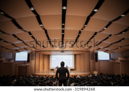 The participants in the auditorium.