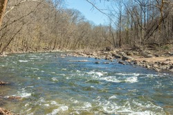 The Patapsco river on a clear day. Maryland.
