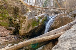 The Patapsco valley river waterfall. maryland.