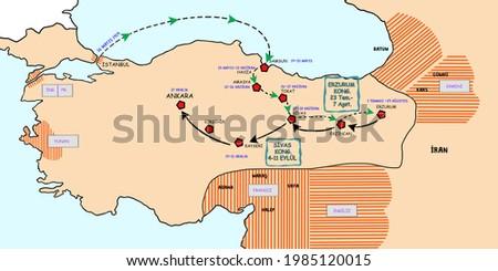 The path that atatürk followed from Istanbul to Ankara at the beginning of the War of Independence. tr:( kurtuluş savaşı başlangıcında atatürk'ün istanbul'dan ankara'ya kadar takip ettiği yol.)