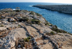 The path to the appetizer spot. Lampedusa, summer 2009.