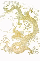 The Pattern Of Gold Dragon