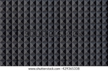 The pattern of the soundproof panel of polyurethane foam. #429365338