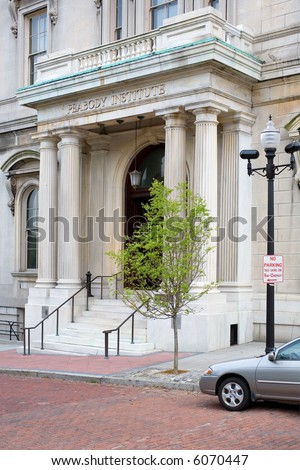 The Peabody Institute is a music venue and part of Johns Hopkins University, Baltimore MD