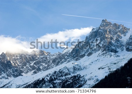The peak of Aiguille du Midi, France