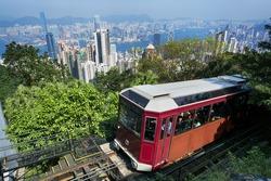 The `Peak Tram` in Hong Kong.