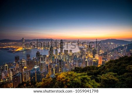 The peak view point, Hong Kong.