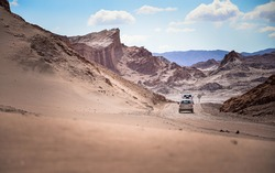 The peculiar rocky formations and dunes of Moon Valley  and the changing colors of Mars Valley  and the Salt Mountains are an attraction that you can't miss while visiting the Atacama Desert