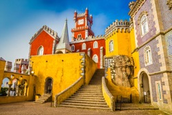 The Pena National Palace - Sintra, Lisbon, Portugal, Europe