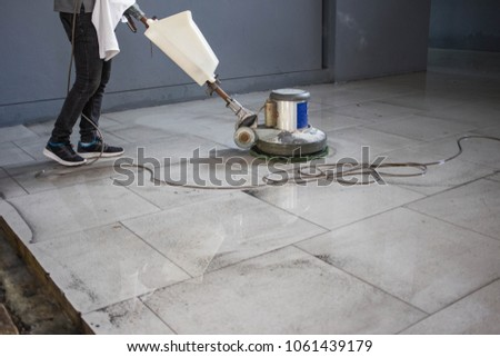 Free Photos Thai People Cleaning Black Granite Floor With Machine