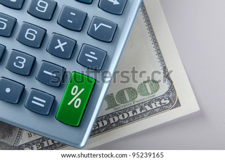 The percent calculator and dollars