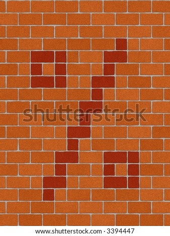 the percentage sign on seamlessly brickwall tile