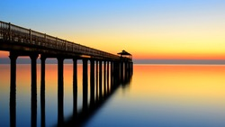 The perfect Fishing Pier at Sunrise