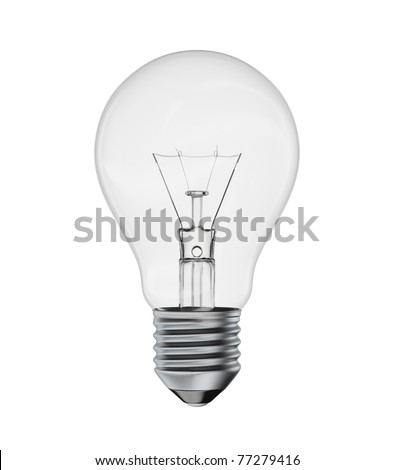 The perfect light bulb isolated on a white background