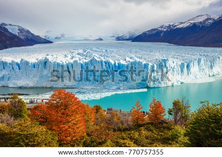 The Perito Moreno Glacier is a glacier located in the Los Glaciares National Park in Santa Cruz Province, Argentina. Its one of the most important tourist attractions in the Argentinian Patagonia. #770757355
