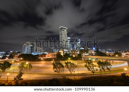 The Perth Skyline from Parliament House at Dusk