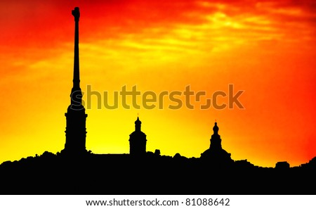The Peter and Paul Cathedral, located inside the Peter and Paul Fortress in St. Petersburg, Russia.