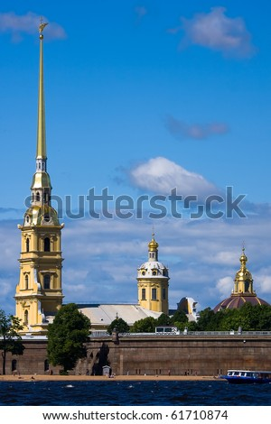 The Peter and Paul Fortress  in Saint Petersburg. Russia