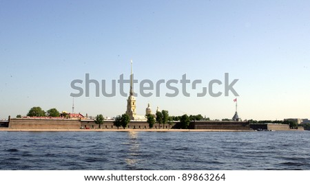The Peter And Paul Fortress in Saint Petersburg, Russia on Wednesday, June 15, 2011