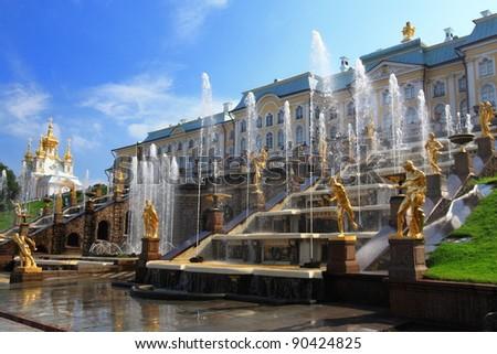 The Peterhof Palace, Saint Petersburg, Russia - stock photo