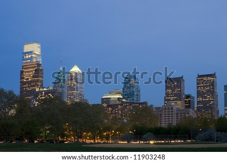The Philadelphia skyline with new added buildings