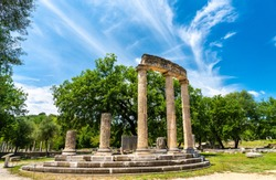 The Philippeion at the Archaeological Site of Olympia, UNESCO world heritage in Greece