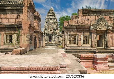 The Phimai Sanctuary, Nakhon Ratchasima. Ancient Siam (formerly known as Ancient City) is a park constructed under the patronage of Lek Viriyaphant and spreading over 200 acres, Thailand.