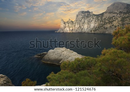 The photo was taken on the peninsula of Crimea, the Black Sea, Ukraine.