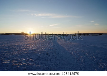 The photograph of a snowy scenery in December/Snowed in landscape