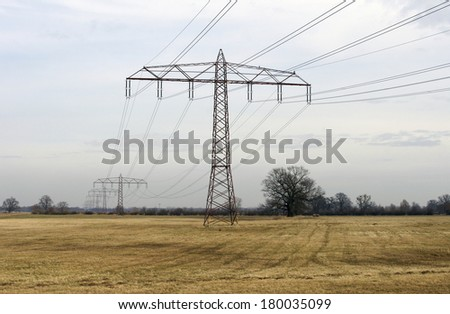 The Photography of high-voltage lines in the landscape / High-voltage line