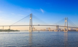 The Phu My bridge over the Saigon river in Saigon, Vietnam