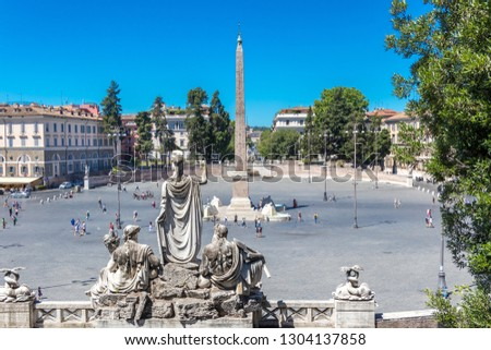 The Piazza del Popolo and Flaminio Obelisk