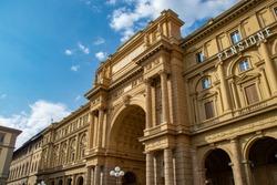 The Piazza della Repubblica in Florence, Italy
